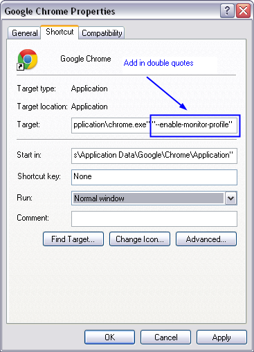 Enabling color management in Google Chrome -